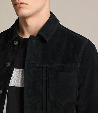 Mens Strend Suede Jacket (Washed Black) - product_image_alt_text_2