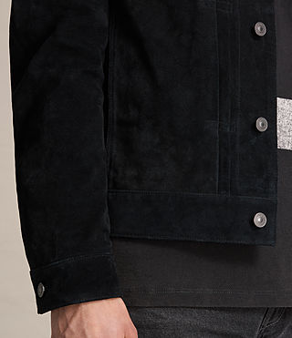 Mens Strend Suede Jacket (Washed Black) - product_image_alt_text_4