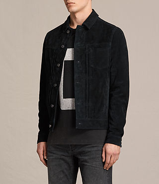 Mens Strend Suede Jacket (Washed Black) - product_image_alt_text_6