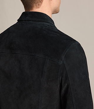 Mens Strend Suede Jacket (Washed Black) - product_image_alt_text_7