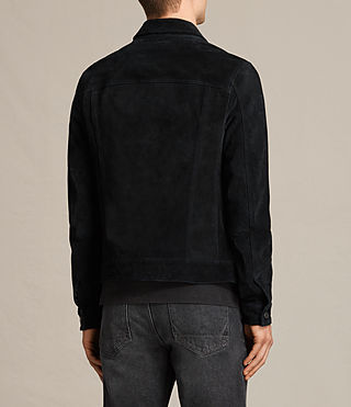 Mens Strend Suede Jacket (Washed Black) - product_image_alt_text_8