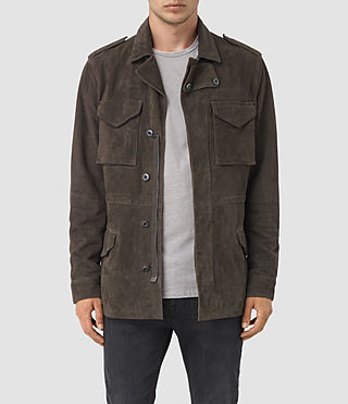 Mens Forter Suede Jacket (Dark Khaki)