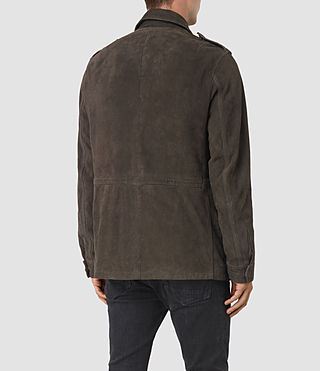 Men's Forter Suede Jacket (Dark Khaki Green) - product_image_alt_text_5