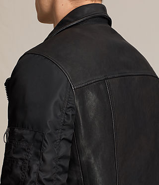 Mens Ethan Hybrid Biker Jacket (Black) - product_image_alt_text_6