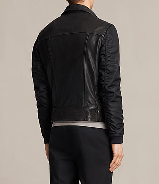 Mens Ethan Hybrid Biker Jacket (Black) - product_image_alt_text_7
