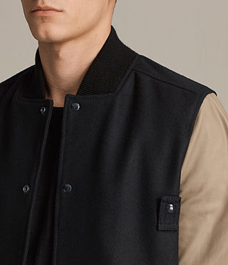 Uomo Bomber in pelle Murray (INK NAVY) - product_image_alt_text_2