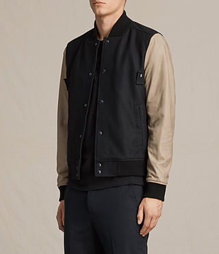 Uomo Bomber in pelle Murray (INK NAVY) - product_image_alt_text_4