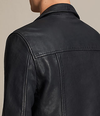 Mens Muir Leather Biker Jacket (INK NAVY) - product_image_alt_text_6
