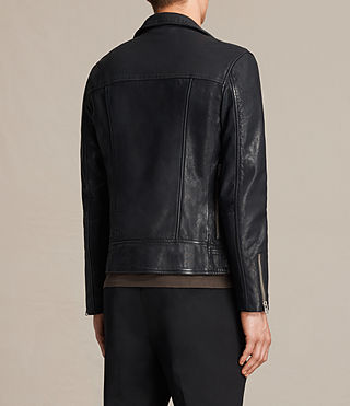 Hombres Muir Leather Biker Jacket (INK NAVY) - product_image_alt_text_7