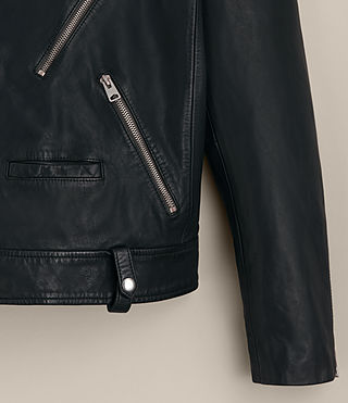 Mens Muir Leather Biker Jacket (INK NAVY) - product_image_alt_text_9