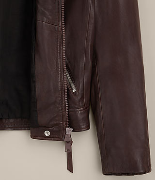 Hombre Muir Leather Biker Jacket (OXBLOOD RED) -