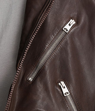 Uomo Giacca biker in pelle Muir (OXBLOOD RED) - product_image_alt_text_4