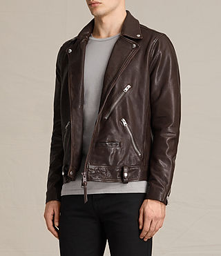 Uomo Giacca biker in pelle Muir (OXBLOOD RED) - product_image_alt_text_5