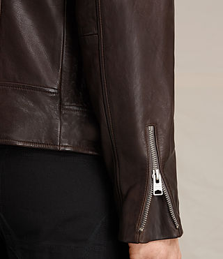 Uomo Giacca biker in pelle Muir (OXBLOOD RED) - product_image_alt_text_7