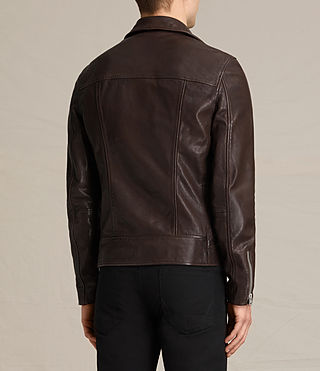 Uomo Giacca biker in pelle Muir (OXBLOOD RED) - product_image_alt_text_8