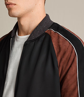 Hombre Bomber Atley (BLACK/RUST RED) - product_image_alt_text_2