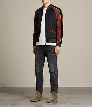 Hombre Bomber Atley (BLACK/RUST RED) - product_image_alt_text_3