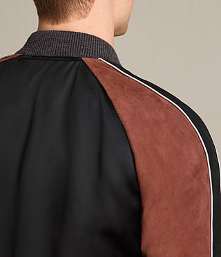 Hombre Bomber Atley (BLACK/RUST RED) - product_image_alt_text_4