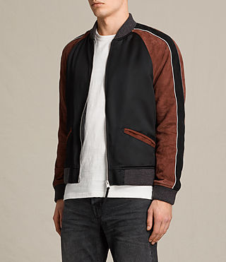 Hombre Bomber Atley (BLACK/RUST RED) - product_image_alt_text_5