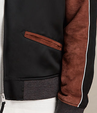 Hombre Bomber Atley (BLACK/RUST RED) - product_image_alt_text_6