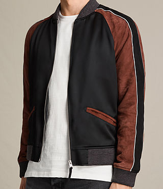 Hombre Bomber Atley (BLACK/RUST RED) - product_image_alt_text_7