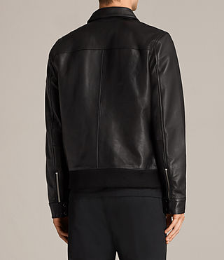 Mens Morenci Leather Aviator Jacket (Black) - Image 6