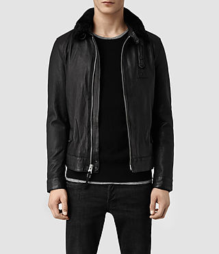 Men's Lawson Leather Jacket (Black)