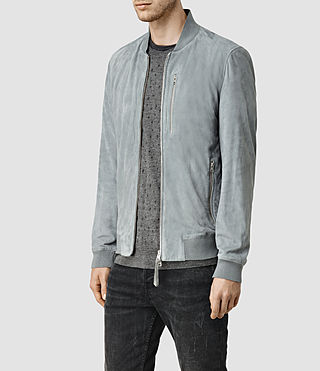 Mens Kemble Suede Bomber (Ice Blue) - product_image_alt_text_2
