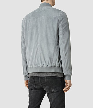 Men's Kemble Suede Bomber (Ice Blue) - product_image_alt_text_3