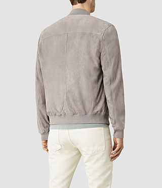 Mens Kemble Suede Bomber (Steel Grey) - product_image_alt_text_3