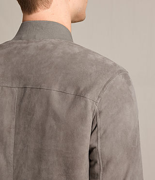 Men's Kemble Suede Bomber Jacket (Stone Grey) - product_image_alt_text_6
