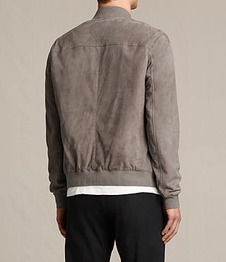 Men's Kemble Suede Bomber Jacket (Stone Grey) - product_image_alt_text_8
