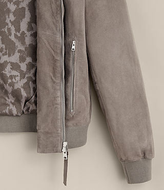 Uomo Kemble Suede Bomber Jacket (Stone Grey) - product_image_alt_text_9