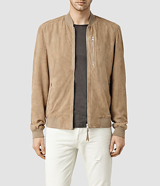 Mens Kemble Suede Bomber (SAND BROWN) - product_image_alt_text_1