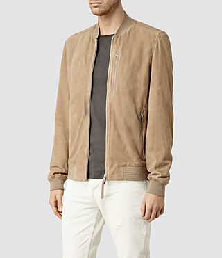Hommes Kemble Suede Bomber (SAND BROWN) - product_image_alt_text_2