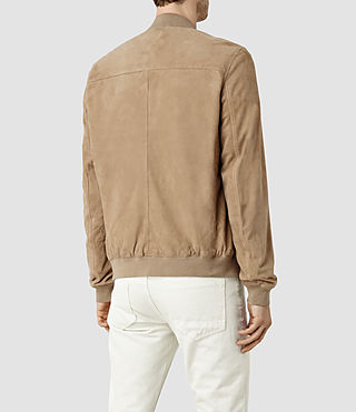 Hommes Kemble Suede Bomber (SAND BROWN) - product_image_alt_text_3