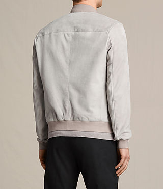 Mens Kemble Suede Bomber Jacket (Smoke Grey) - product_image_alt_text_7