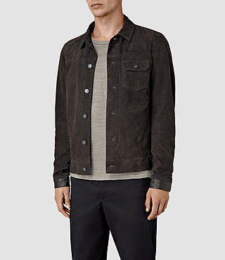Mens Rine Suede Jacket (Washed Black) - product_image_alt_text_3