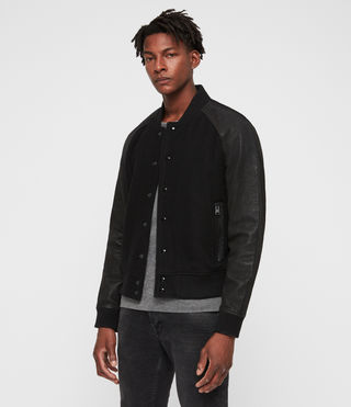 Elton Leather Bomber Jacket