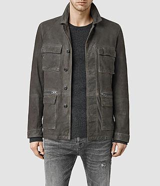 Mens Civil Suede Jacket (Slate Grey)