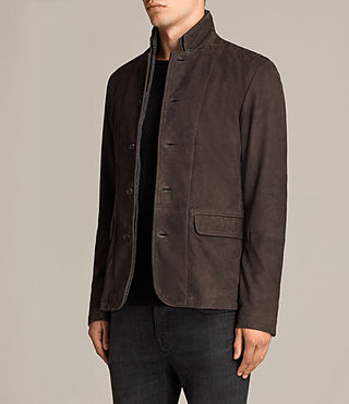 Men's Shorley Suede Blazer (charcoal/grey) - Image 3
