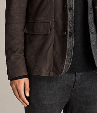 Men's Shorley Suede Blazer (charcoal/grey) - Image 4