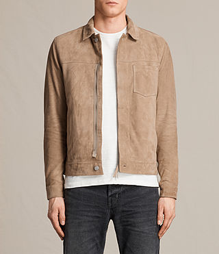 Men's Wilson Suede Jacket (SAND BROWN) - product_image_alt_text_1