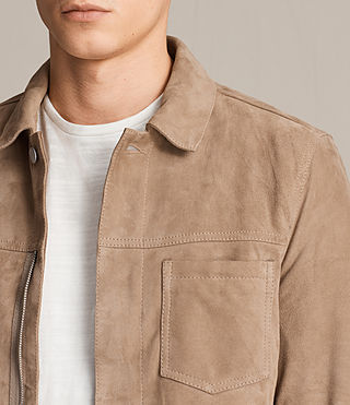 Men's Wilson Suede Jacket (SAND BROWN) - product_image_alt_text_2