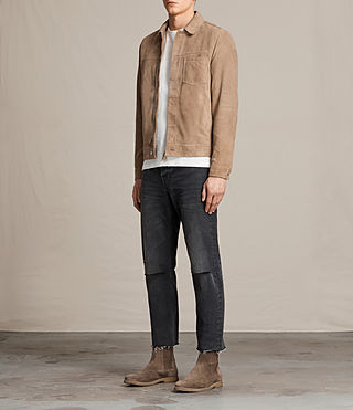 Men's Wilson Suede Jacket (SAND BROWN) - product_image_alt_text_3