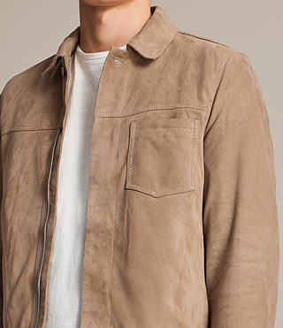 Men's Wilson Suede Jacket (SAND BROWN) - product_image_alt_text_4