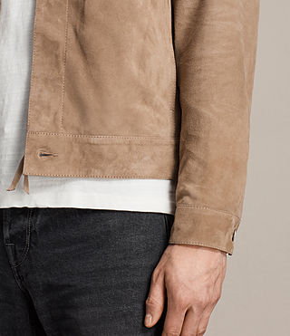 Men's Wilson Suede Jacket (SAND BROWN) - product_image_alt_text_5
