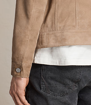 Men's Wilson Suede Jacket (SAND BROWN) - product_image_alt_text_6