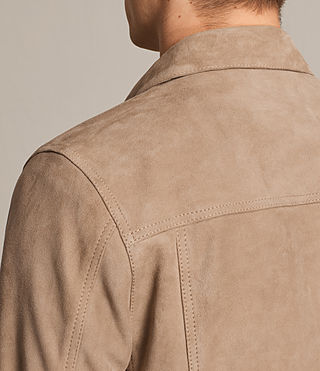 Men's Wilson Suede Jacket (SAND BROWN) - product_image_alt_text_7