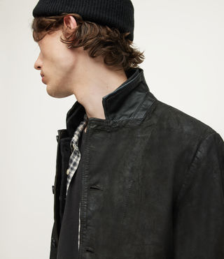 Hombre Survey Leather Blazer (ANTHRACITE GREY) - product_image_alt_text_4
